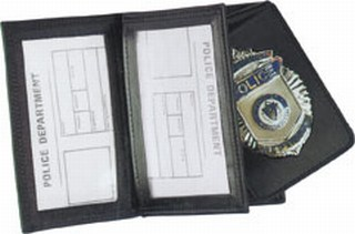 Side Open Double ID Removable Flip-out Badge Case - Dress-Strong Leather