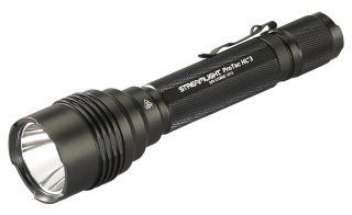 "ProTac HL "" with white LED.  Includes "" CR123A lithium batteries.  Black"