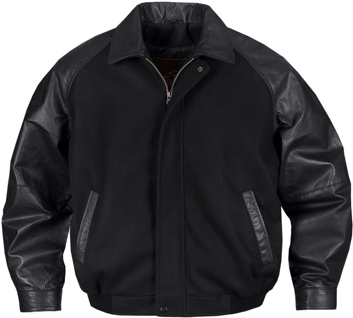 Men's Rhodes Melton/leather Club Jacket-StormTech