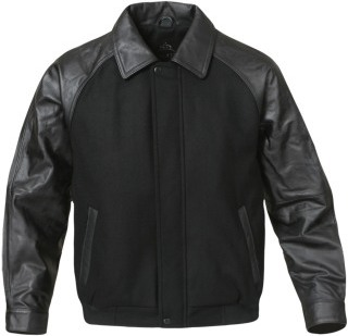 Men's Academy Melton Synthetic Leather Jacket-StormTech