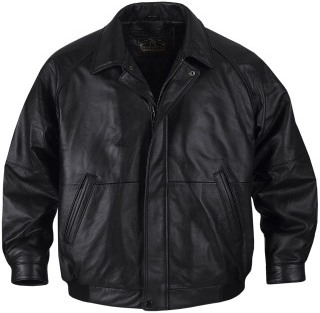 Men's Aviator Full Leather Club Jacket-StormTech