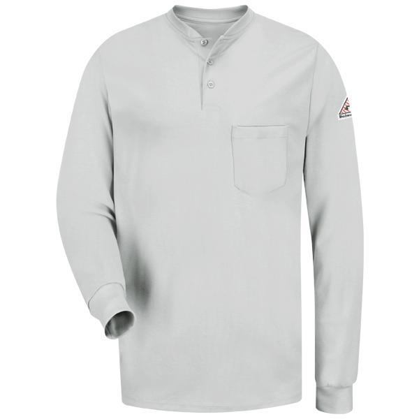 Long Sleeve Tagless Henley Shirt - EXCEL FR®