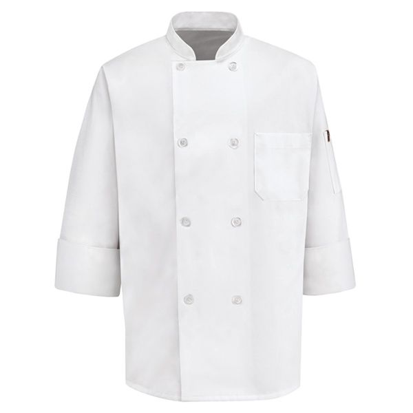 0413 Eight Pearl Button Chef Coat-Chef Designs