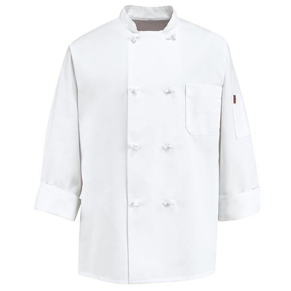 0414 Eight Knot Button Chef Coat