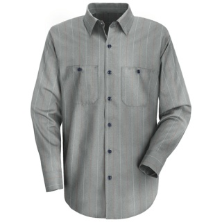 Men's Industrial Stripe Work Shirt - Long Sleeve