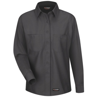 Womens Work Shirt - Long Sleeve-Wrangler Workwear