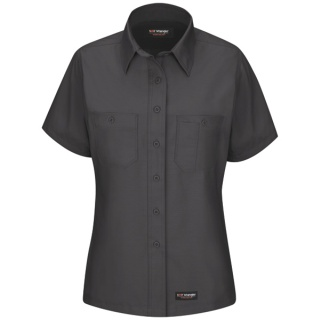 Womens Work Shirt - Short Sleeve-Wrangler Workwear