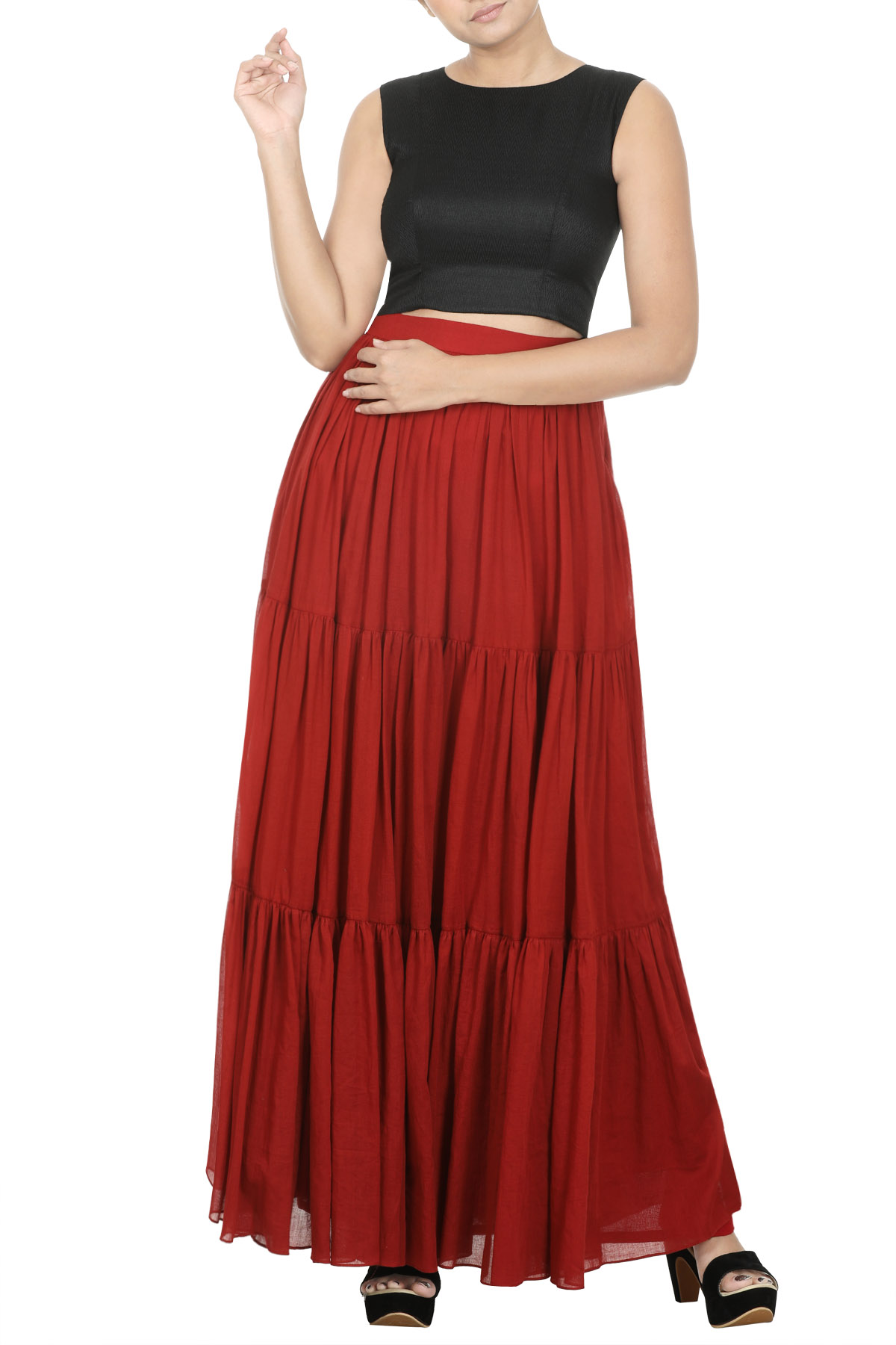 Tiered Long Skirt