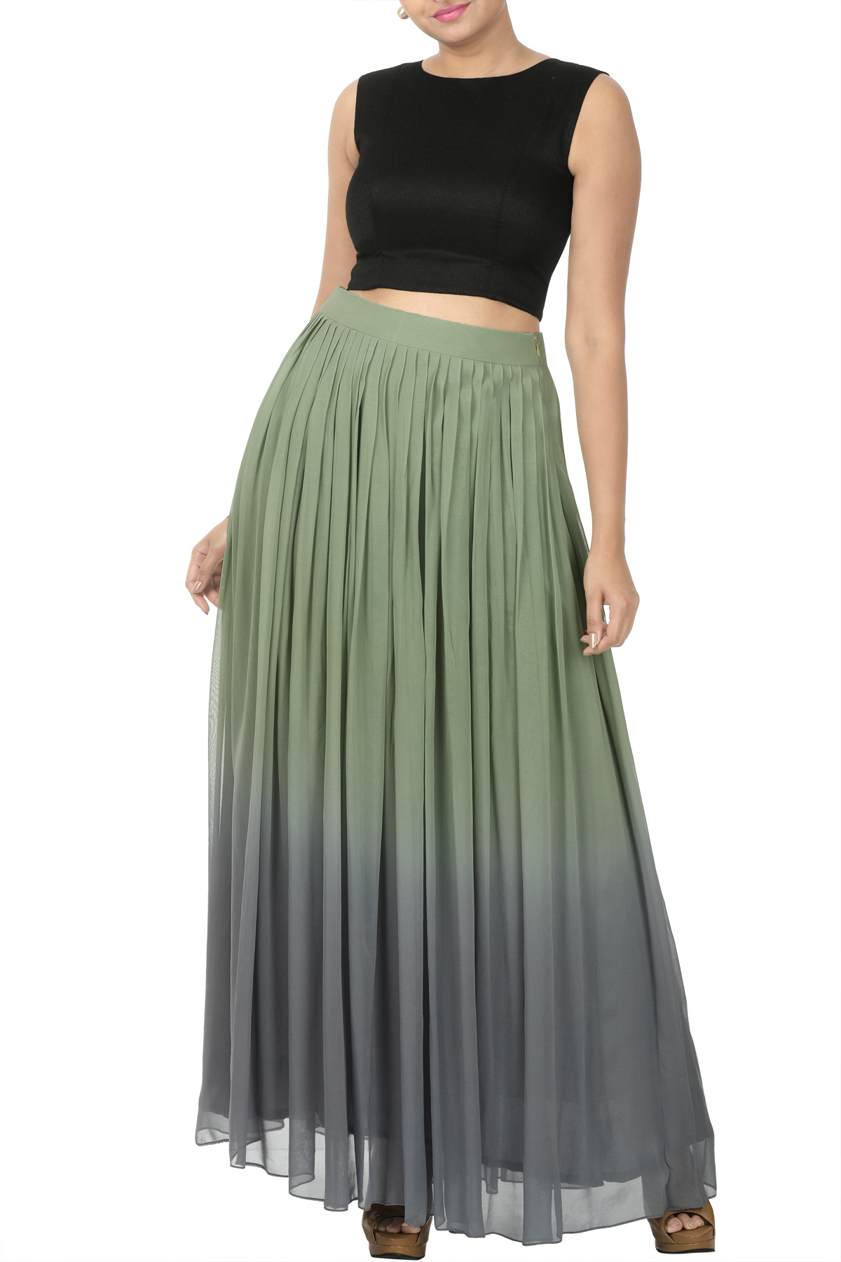 Ombre dyed skirt