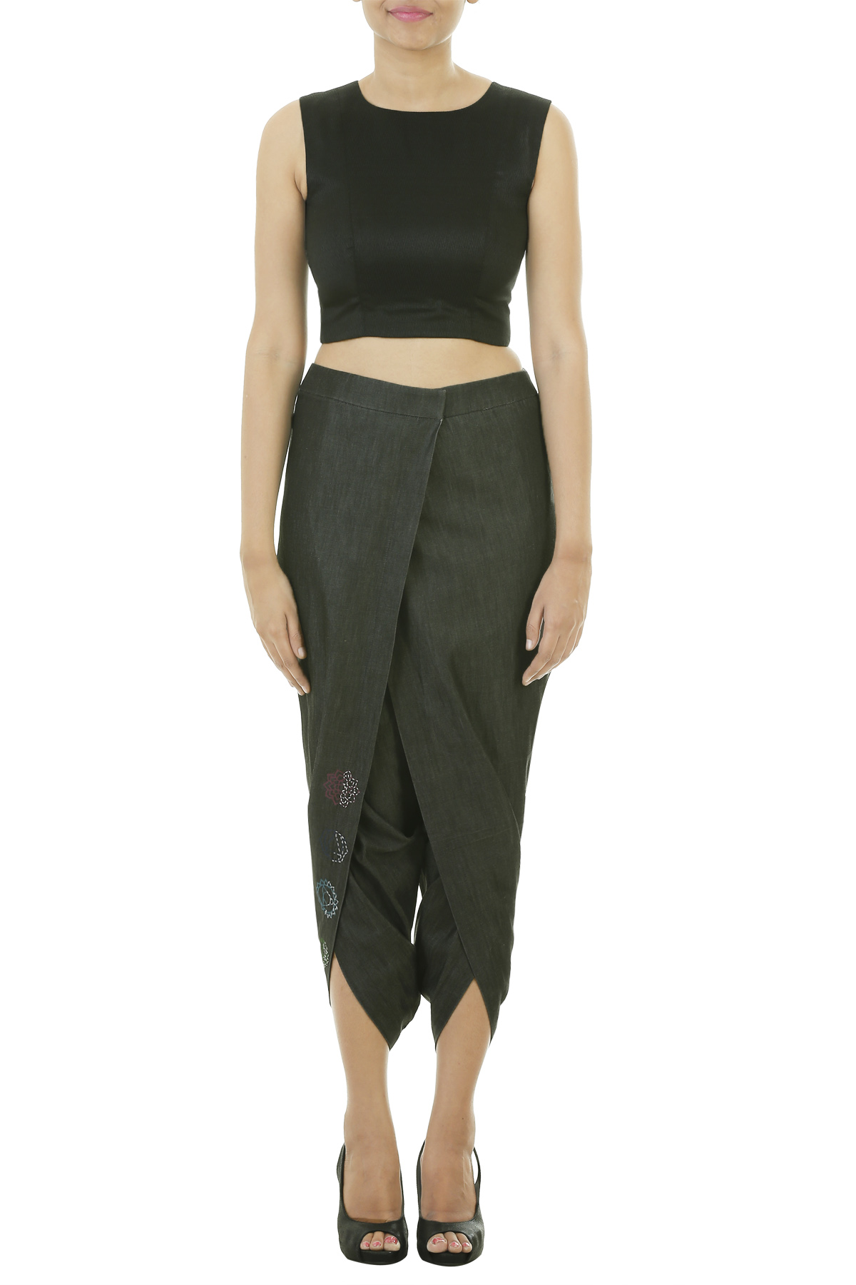 Jersey dhoti with overlap pant