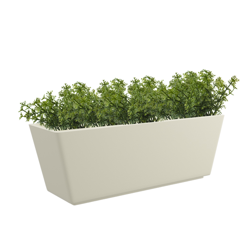 Cream White  Gk Tra 24x11 Inches Rectangular Planter