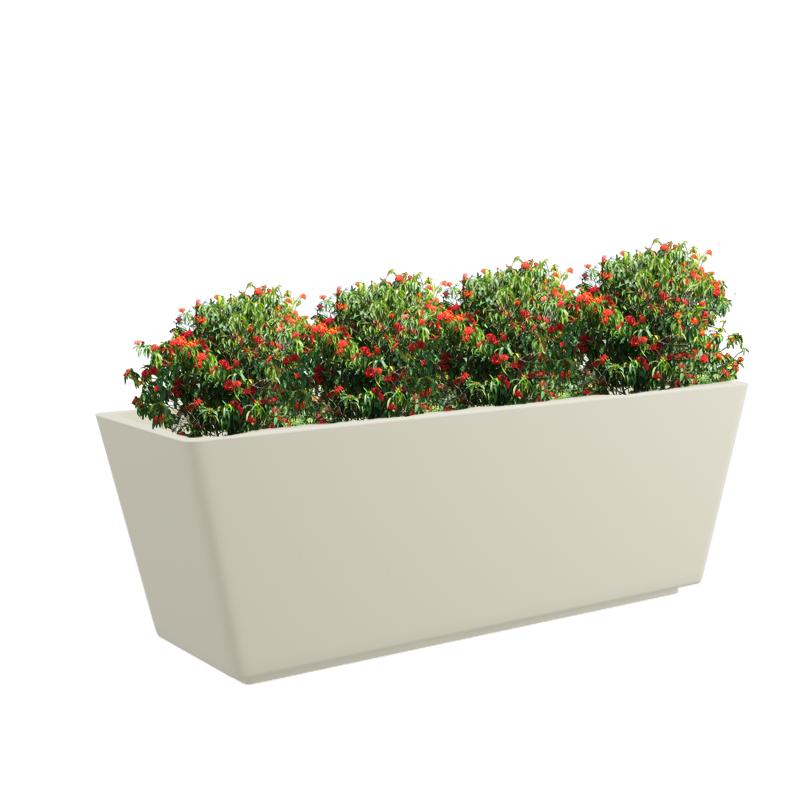 Cream White  Gk Tray 30x13 Inches Rectangular Planter