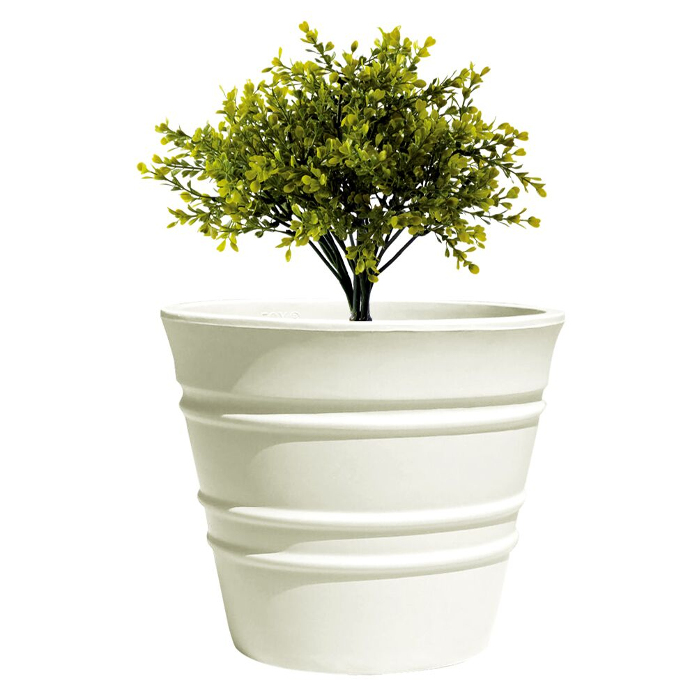 Yuccabe Italia FOX-B BR White Round 15 Inches Planter