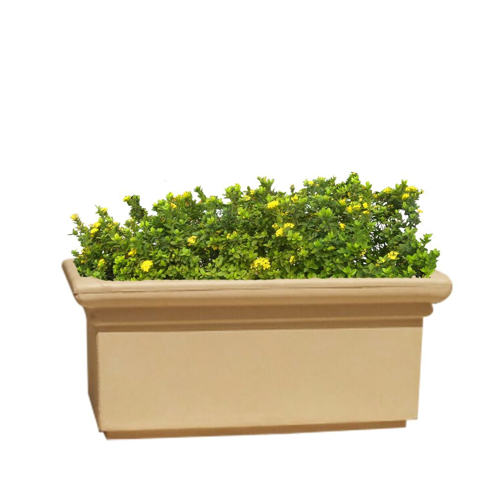 Yuccabe Italia FOX-B BT Beige Rectangular 26 Inches Planter