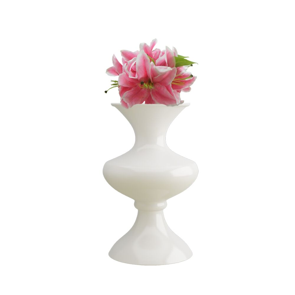 16 inch White Flower Pot - Vase (Florence)