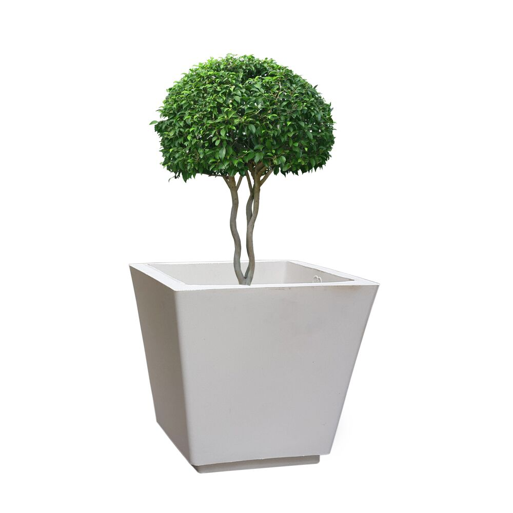 YUCCABE FOXB GK White 12 Inches Planter