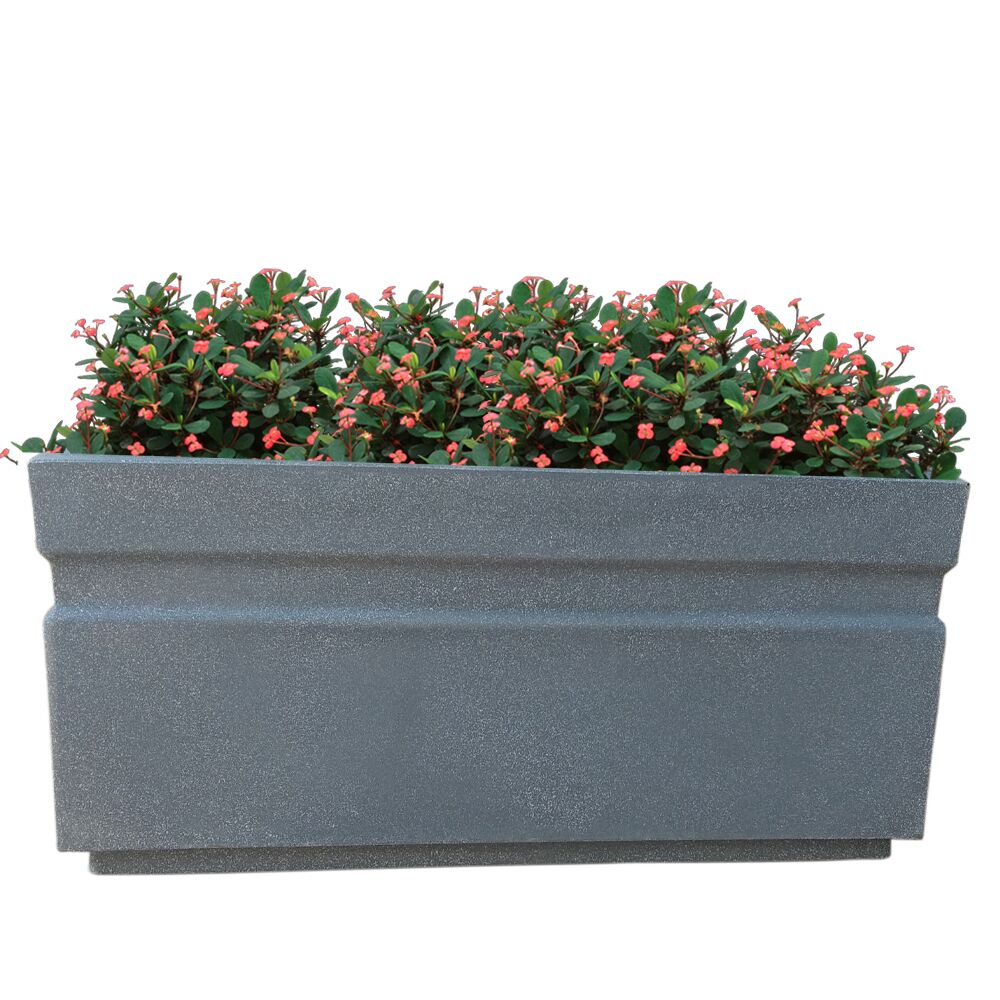 Yuccabe Italia GT Grey Rectangular 36 Inches Planter