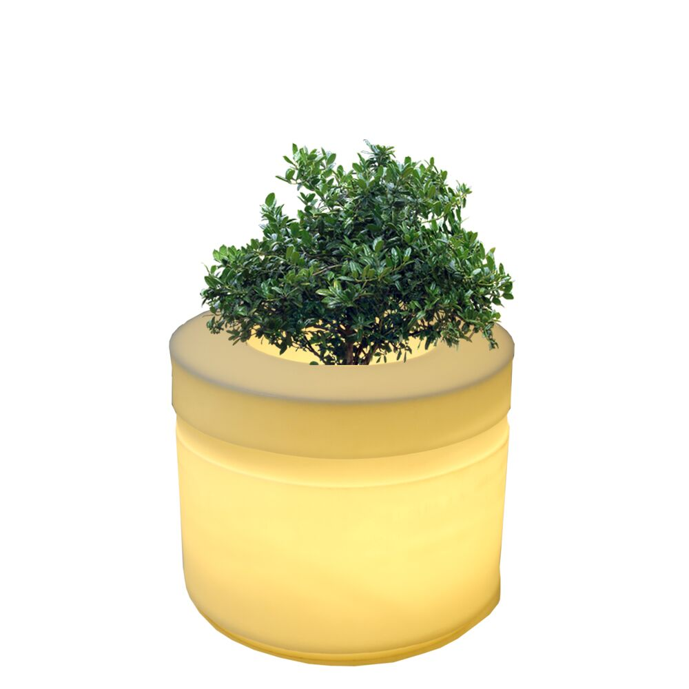 LED Cyl 20 Inches Planter