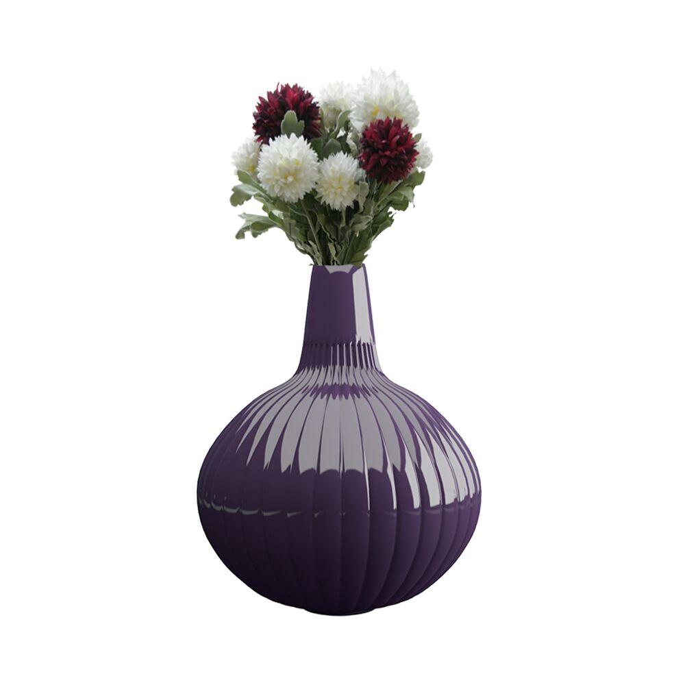 12 inch Purple Flower Pot - Vase (Linea)