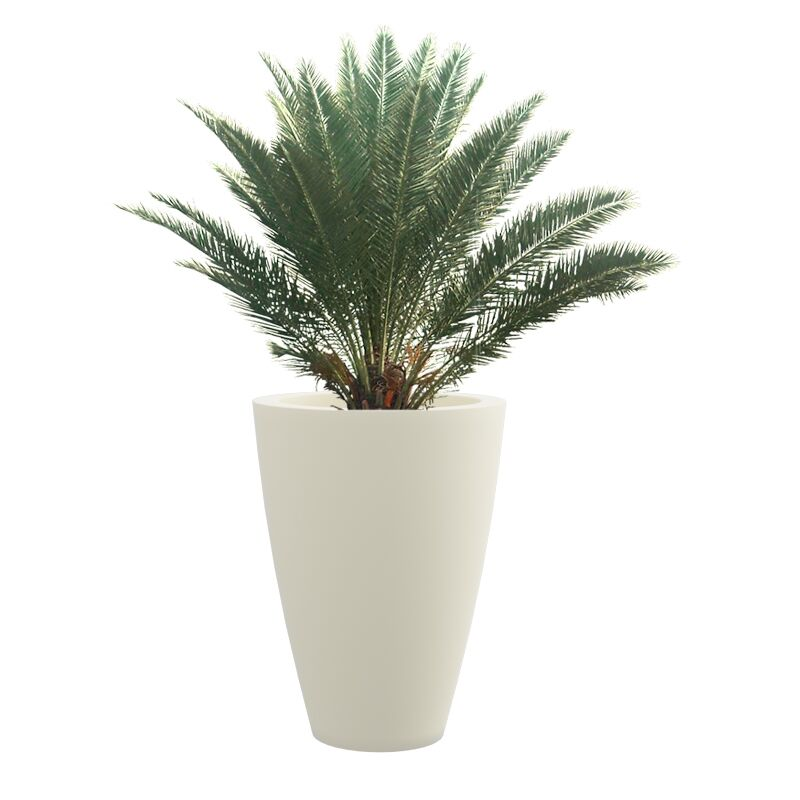 Cream White VNR 18 Inches Round Planter