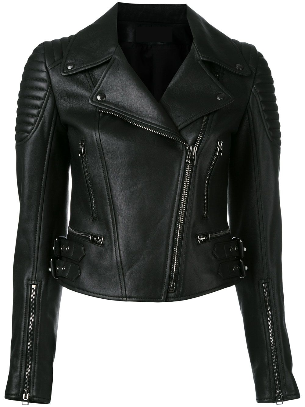 Black Colour Pure Customised leather jackets for Women's