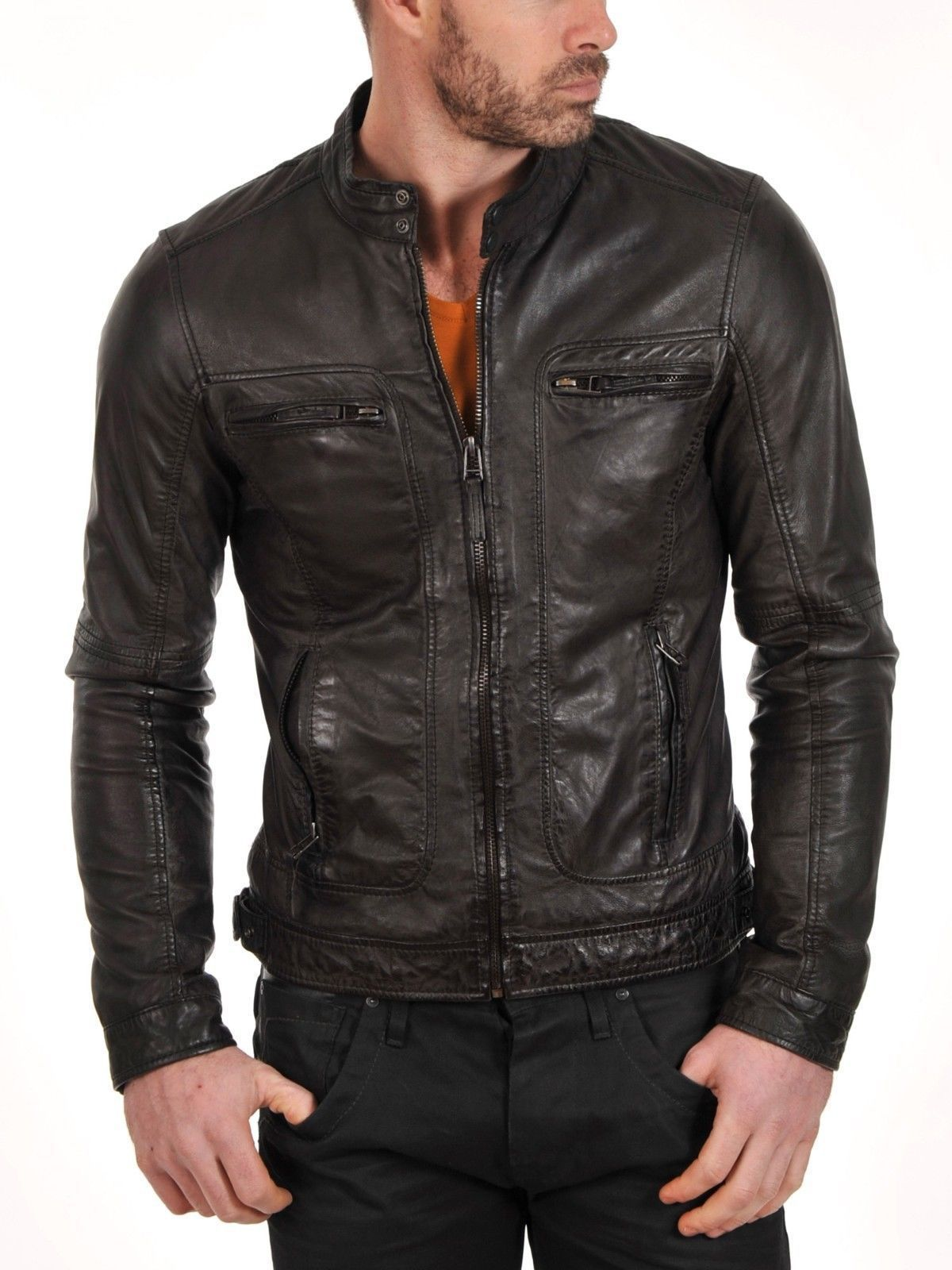 Men's Pure Customised  low Price leather jackets