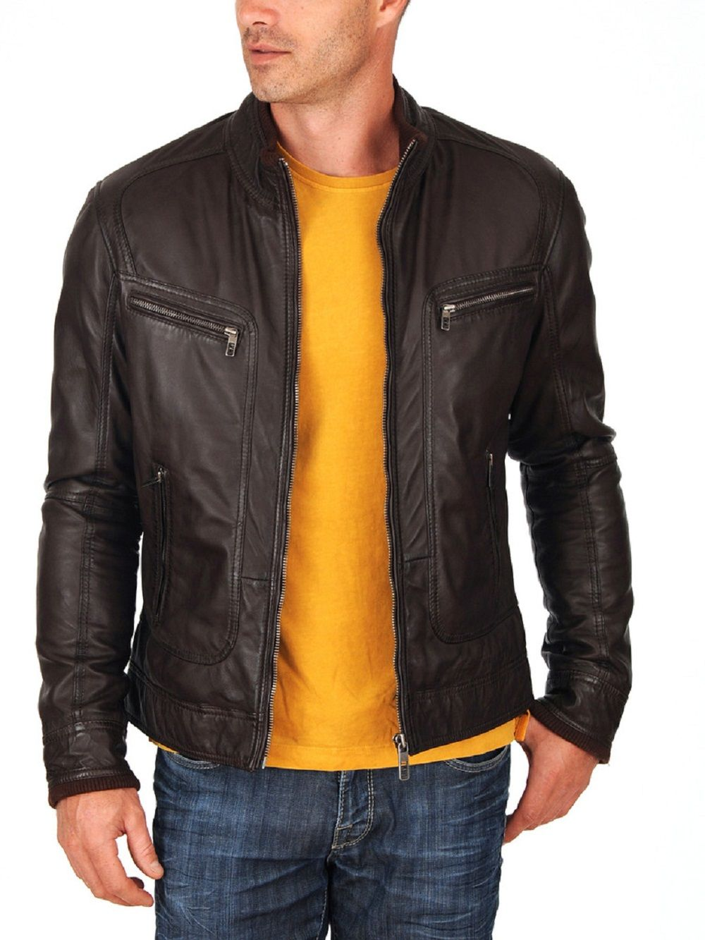 Customised  Leather Jacket for men's