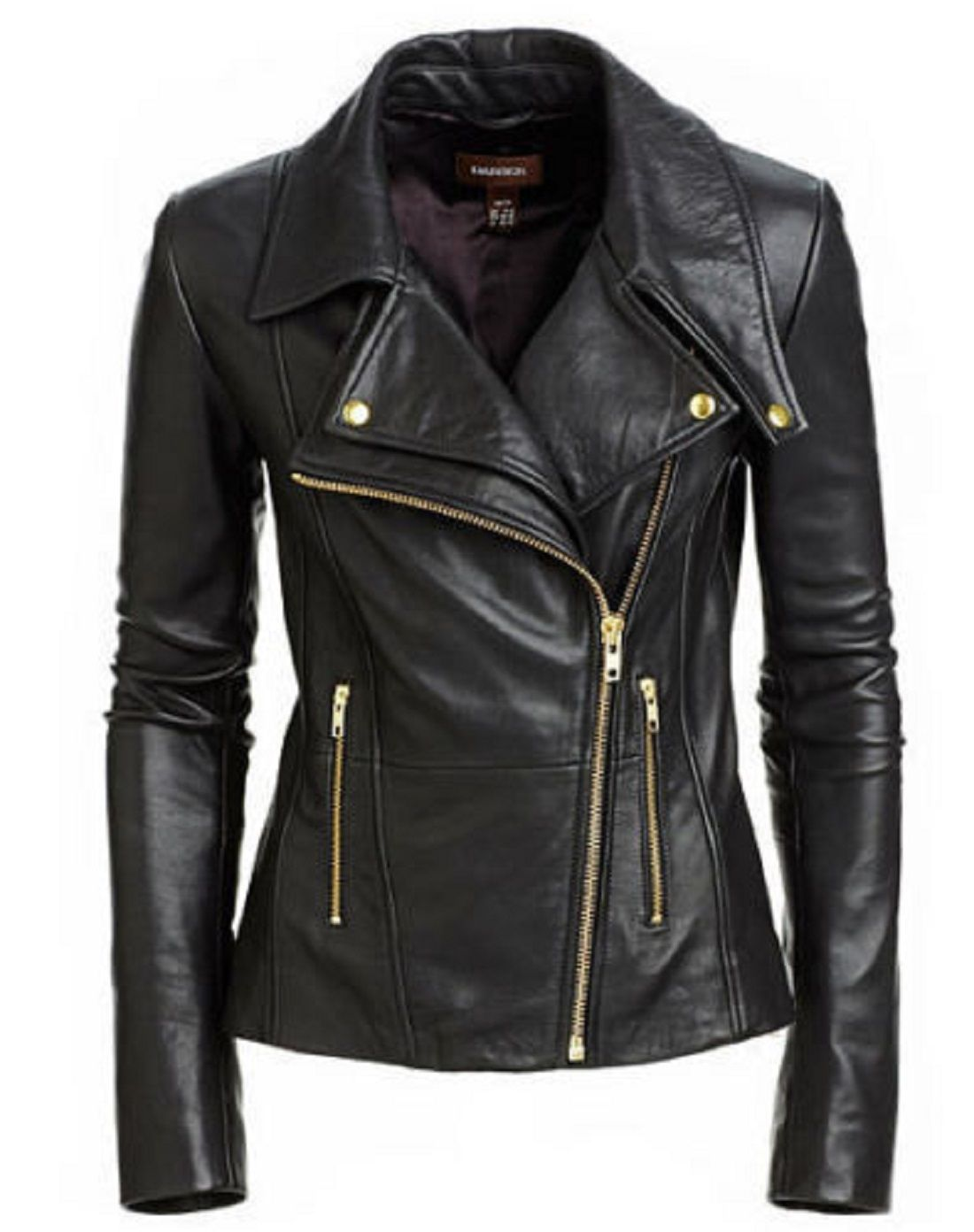 Customised Black colour women's Leather jackets