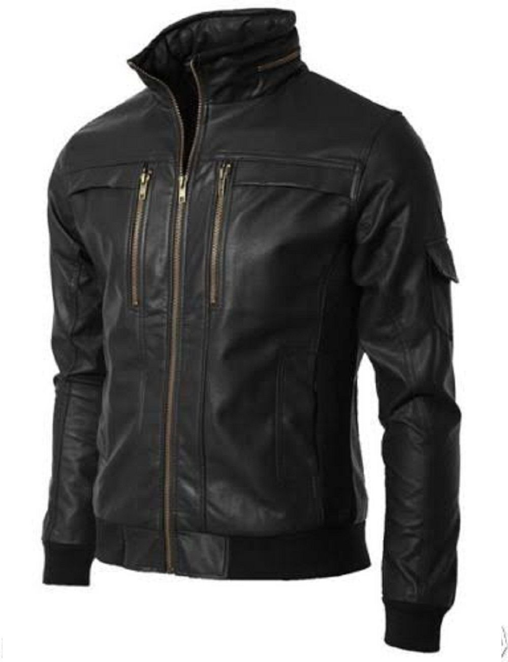 Black colour Custom Made men's Leather jackets By iftekhar leather hub