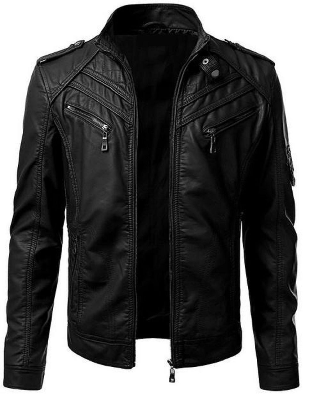 Custom Made Black colour men's Leather jackets By iftekhar leather hub