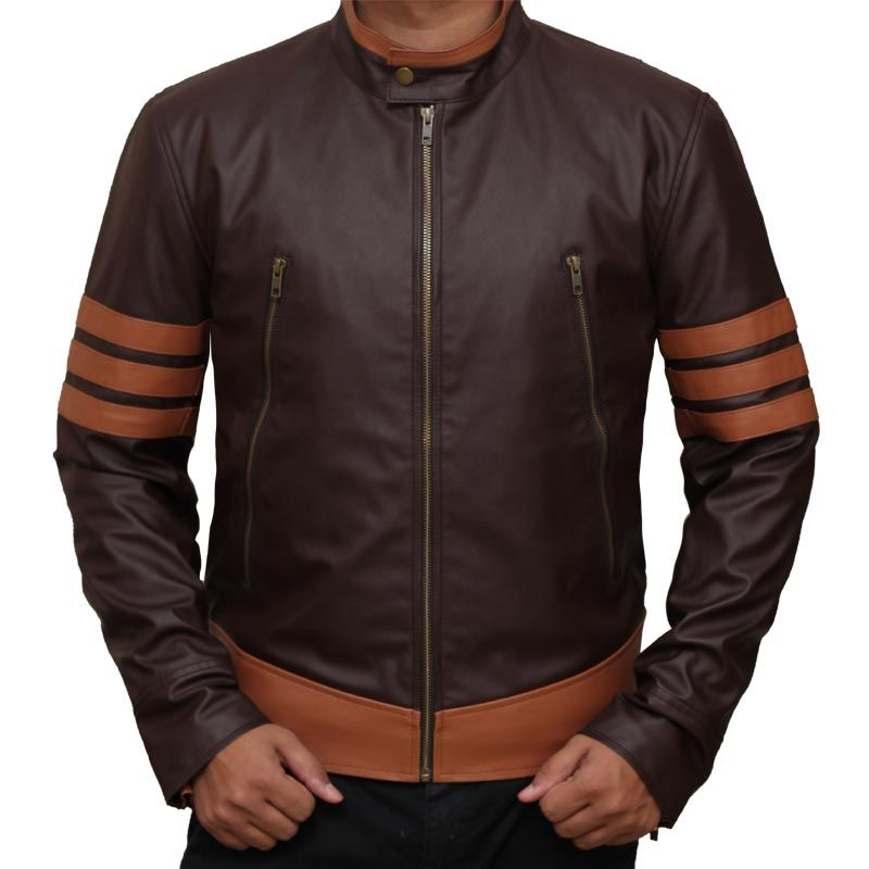 Mens customised  Leather Jacket